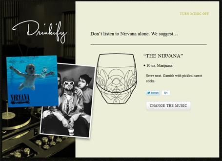 Drinkify - Que boirez-vous en écoutant votre musique préférée? | Actualités - Nouveaux sites web & outils ! | Scoop.it