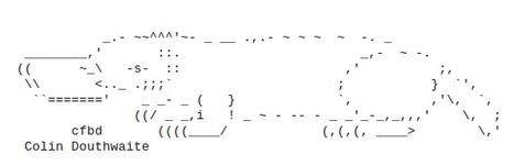 Dog Hause - ><{{{*> Ascii Animal Graphics <:3)~ | ASCII Art | Scoop.it