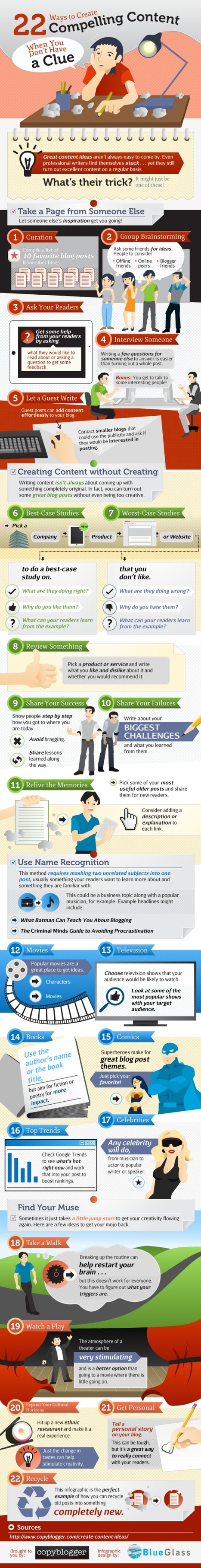 22 Ways to Create Compelling Content When You're Stumped [INFOGRAPHIC] | Personal  Marketing Strategy | Scoop.it