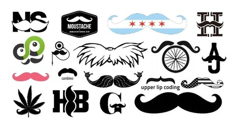 The Growth of the Mustachioed Logo » Emblemetric   Creative Feeds   Scoop.it