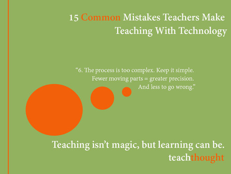 15 Common Mistakes Teachers Make Teaching With Technology | Educational technology , Erate, Broadband and Connectivity | Scoop.it