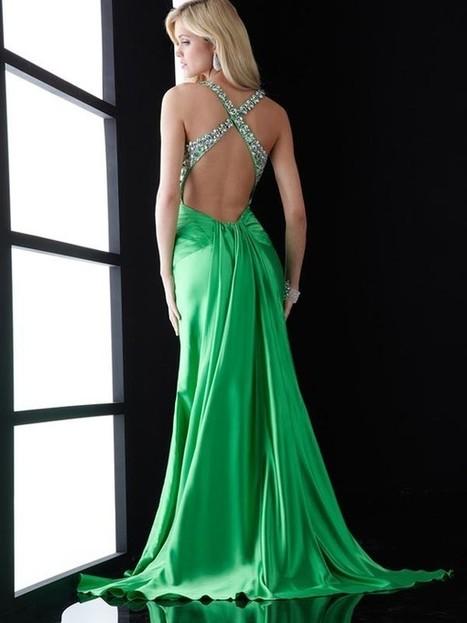 New Sheath/Column Spaghetti Straps Floor-Length Satin Prom Dresses | Fashion Dresses | Scoop.it