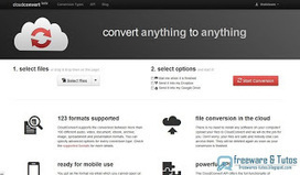 CloudConvert : un nouvel outil de conversion de fichiers en ligne prometteur | Moodle and Web 2.0 | Scoop.it