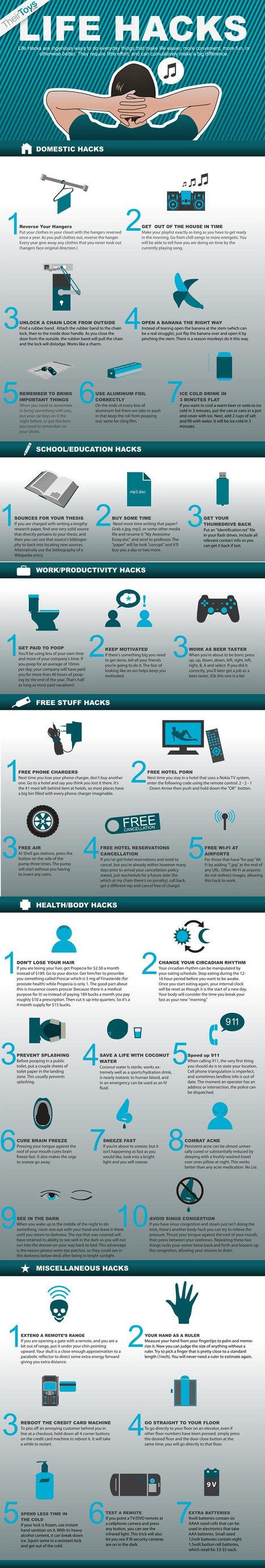 Life Hacks [infographic] | EPIC Infographic | Scoop.it