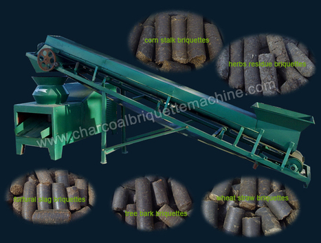 Biomass Briquette Press with Flat Die Design - Ideal for Small Briquetting Plant | charcoal briquette making | Scoop.it