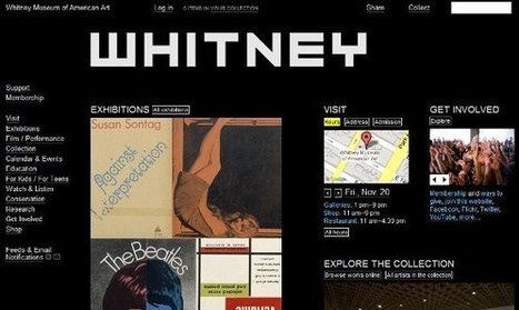 IL Y A 6 ANS ... Le Whitney Museum de New York en ligne avec son public | Clic France | Scoop.it