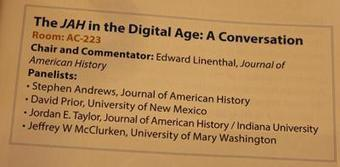 The Journal of American History in the Digital Age: An OAH Panel Report | Humanidades digitales | Scoop.it