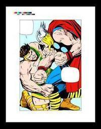 """Jack Kirby The Mighty Thor #126 Rare Production Art Pg 9 