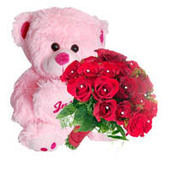 Online delivery of red roses bunch and teddy bear in Chennai | Gifts Delivery in India | Scoop.it