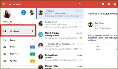 Nuevo Gmail permite ver todas nuestras cuentas en un mismo lugar | LabTIC - Tecnología y Educación | Scoop.it