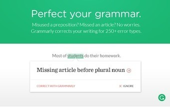 Grammarly- A Great Tool to Help Students with Their Writing ~ Educational Technology and Mobile Learning | Edtech PK-12 | Scoop.it