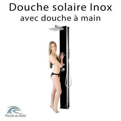Douche extérieure solaire en inox 304 avec douche à main - Boutique Piscine du Nord   Equipements et accessoires piscine   Scoop.it