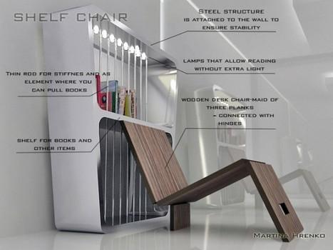 Self chair | Bibliothèque avec chaise pliante intégrée | Bibliothèque de Toulouse | Scoop.it