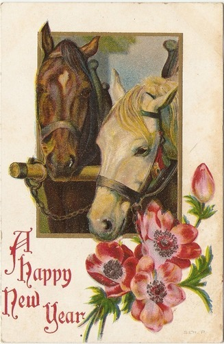 Happy New Year! - 1911 Happy New Year Post Card | The Art of the Horse | Scoop.it