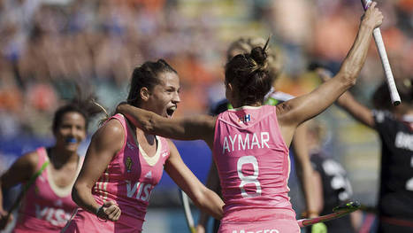 WOMEN Pool B: Argentina are sitting pretty (in pink) at the top of the table   Hockey World Championship 2014   Scoop.it