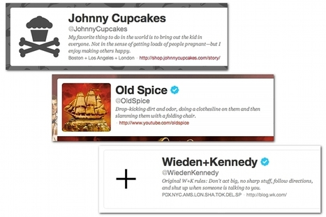 10 brands with creative Twitter bios | Articles | Home | Communication Strategy | Scoop.it