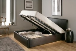 An Ottoman bed, the perfect storage solution. | interior design | Scoop.it