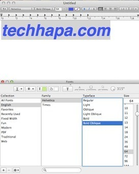 How to Use the Font Pannel in OS X ~ Techhapa | Mac OS X | Scoop.it