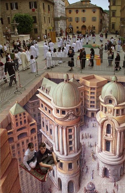 You Must See These Sidewalk Chalk Art Illusions | The brain and illusions | Scoop.it