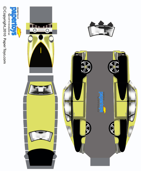 Tucker Automobile Paper Model - Free Paper Toys and Models at PaperToys.com   Annaba.Autisme   Scoop.it