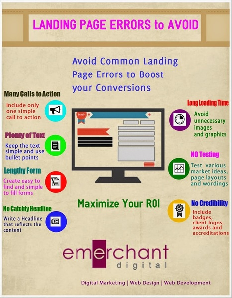 e-Merchant Digital Solutions Pvt. Ltd: Common Landing Page Issues and Solutions [Infographic] | Digital Marketing | Scoop.it