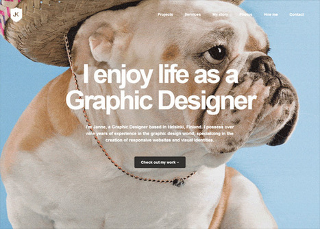 25 Examples of Big Typography in Web Design - Design Instruct | Typography | Scoop.it
