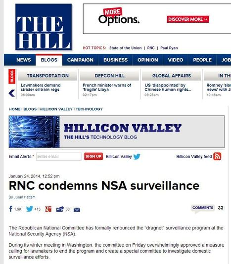 RNC condemns NSA surveillance | Coffee Party Election Coverage | Scoop.it