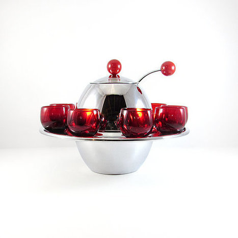 Mid-Century Saturn Ring Punch Bowl Set | whats been spotted on etsy today? | Scoop.it