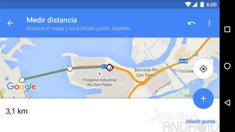 Cómo medir distancias con Google Maps para Android | Enseñar Geografía e Historia en Secundaria | Scoop.it