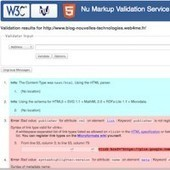Le W3C lance un nouveau service de validation de balisage pour HTML5 | Nouvelles technologies, web, développement | Scoop.it