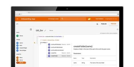 Google launches AppMaker | Programming | Scoop.it