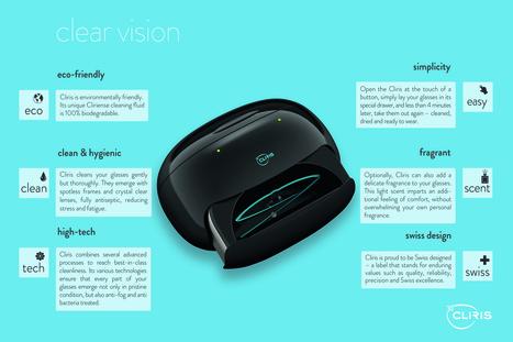 Cliris, exclusivité mondiale : le premier nettoyeur de lunettes domestique, high-tech, design, automatique. | Informatique Romande | Scoop.it