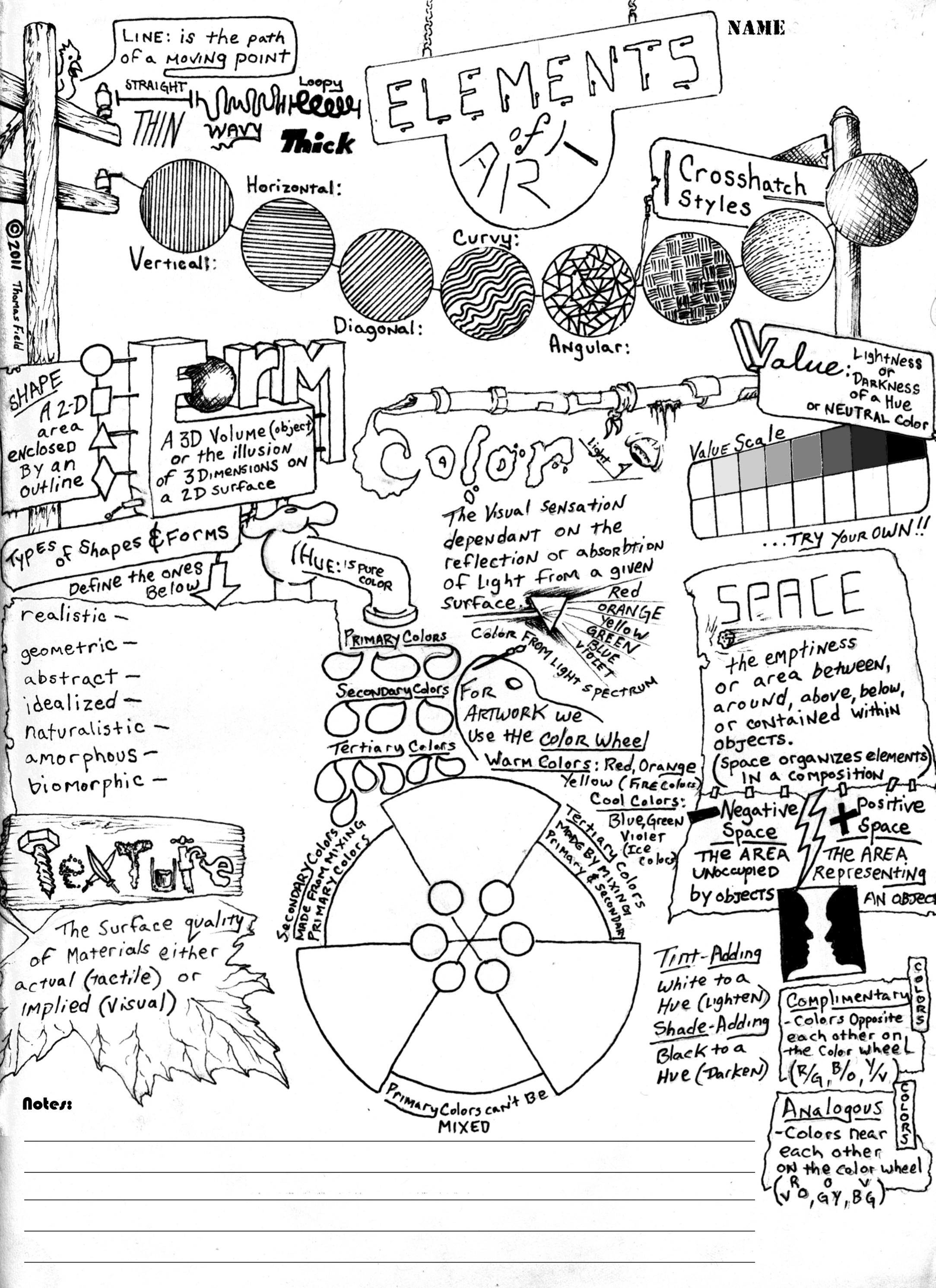 Elements of Art - Worksheet | Elements of Art |...