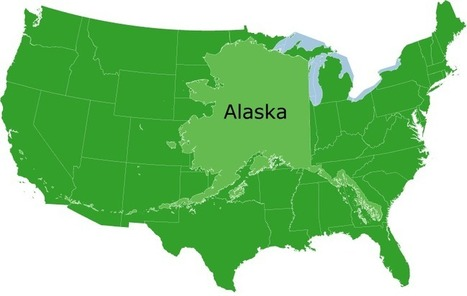 Comparison of Alaska to the mainland US | M@pping the World | Scoop.it