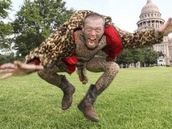 larry leopard l�uomo leopardo con 200 ta