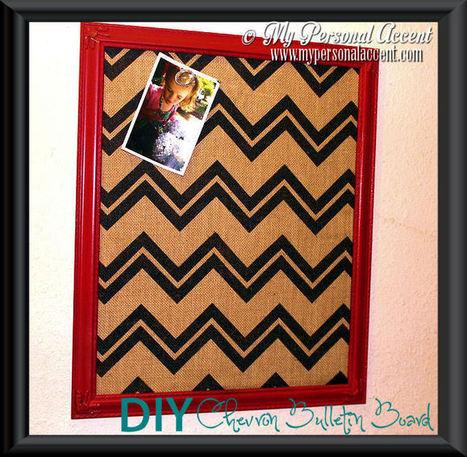 DIY Burlap Chevron Bulletin Board - My Personal Accent | Do It Yourself | Scoop.it