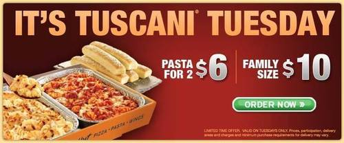 Local Coupons 10 Tuscany Tuesday Pizza Deal For Pizza Hut Puyallup Wa My Local Deals