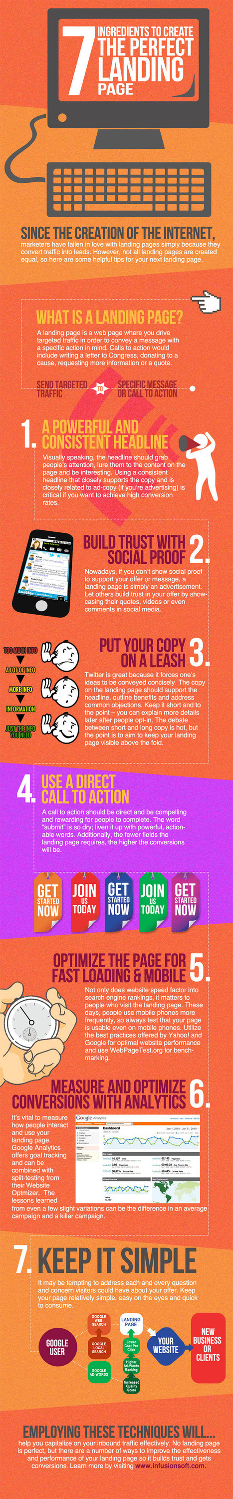 Perfect Landing Page Ingredients #infographic | Denver CO Small Business and Entrepreneur Information Center | Scoop.it