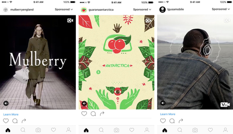 Les publicités verticales arrivent sur Instagram - Blog du Modérateur | Performance Marketing | Scoop.it