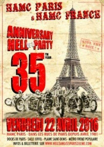35ème Anniversaire Hells Angels Paris le 22/04/2016 aux Docks de Paris   On the road again...   Scoop.it