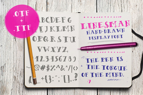 FREE Font | Linesman - Display hand drawn typeface | Design Freebies & Deals | Scoop.it