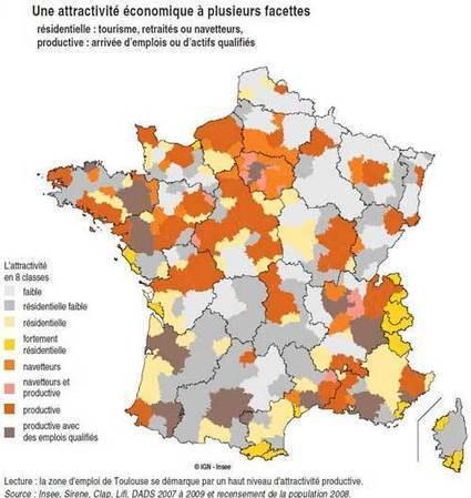 Attractivitééconomique des territoires: une France plurielle | socioquid.fr | Scoop.it