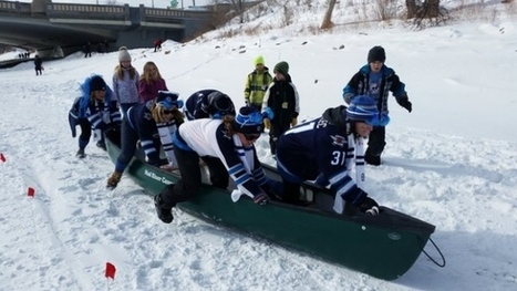 'Amazing' event brings ice canoeing to Winnipeg | Le canot à glace - Ice canoeing | Scoop.it