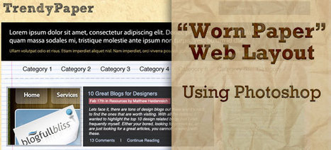 """How to Create a """"Worn Paper"""" Web Layout Using Photoshop - Six Revisions 
