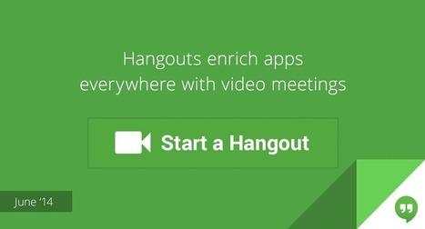Google crea un botón Hangouts para que las empresas lo integren en sus webs y Apps | Herramientas y aplicaciones para la empresa. | Scoop.it
