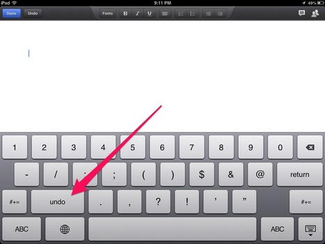 Where is the 'Undo' Button on the iPad Revealed Here! | Everything iPads | Scoop.it