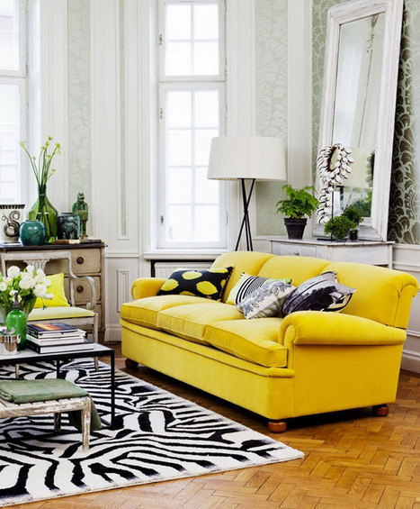Colorful Couches and Tips from Top Interior Designers | Home Centrl interiors | Scoop.it