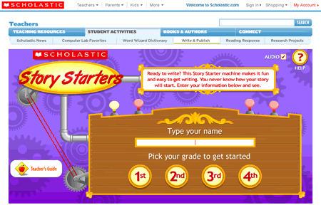 Story Starters   Scholastic.com   GSHP eLearning   Scoop.it