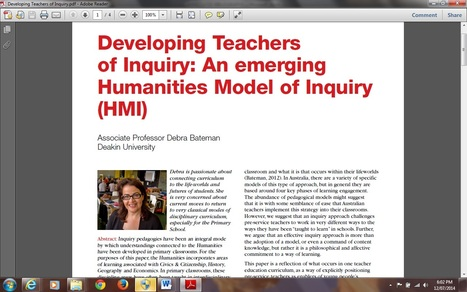 Developing Teachers of Inquiry : An Emerging Humanities Model of Inquiry | Inquiry Learning | Scoop.it