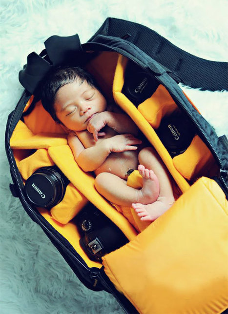Photographers Take Adorable Pics Of Their Babies Sleeping In Camera Bags | Art, Photography, etc | Scoop.it